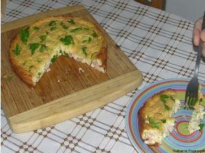 Omlet z szynką i mozzarellą